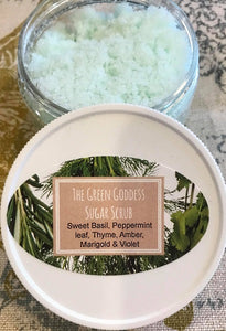 The Green Goddess Sugar Scrub
