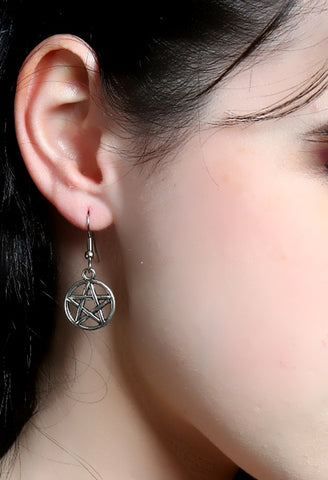 Simple Pentacle Earrings