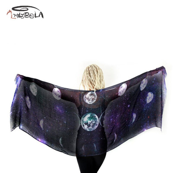 Purple Moon Phase Scarf