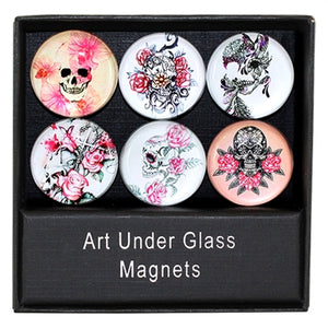 Summer Skull Domed Magnet Gift Set