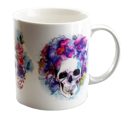 Triple Skull Summer Flower Mug