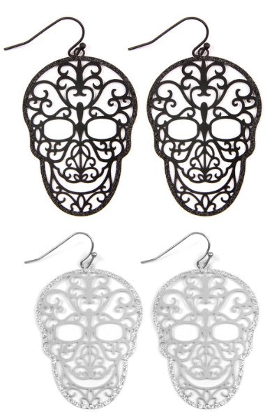 Filigree Skull Earrings