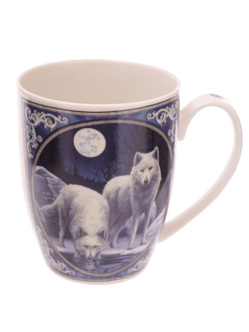 Winter Warrior Gift Boxed Wolf Mug