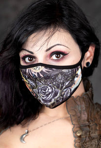 Black Rose Face Mask