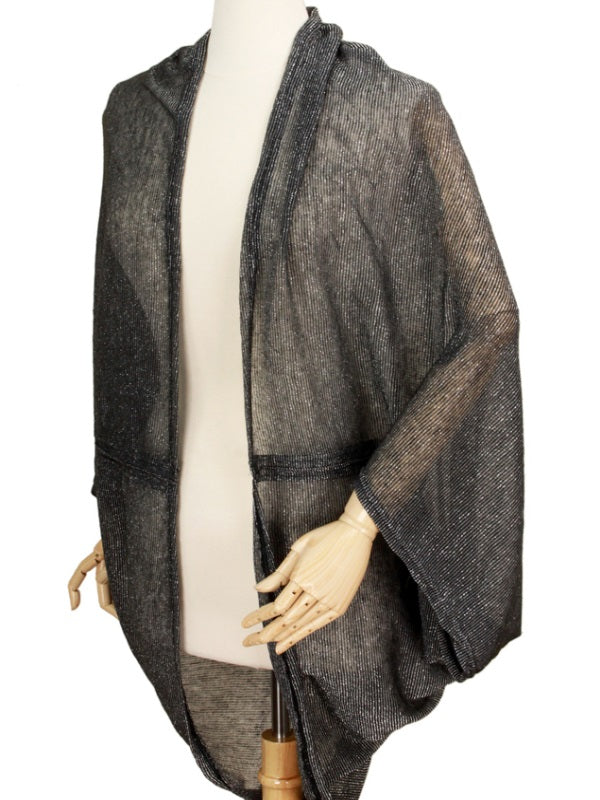 Fairy Cocoon Black Cardigan Sweater