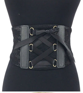 Black Lace Corset Belt