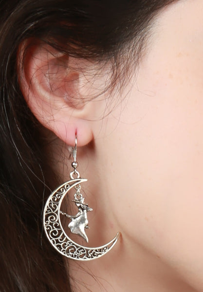 Crescent Moon Witch Earrings