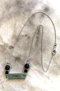 Moon Phase Garnet Necklace