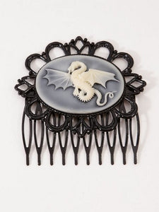 Dragon Cameo Hair Comb