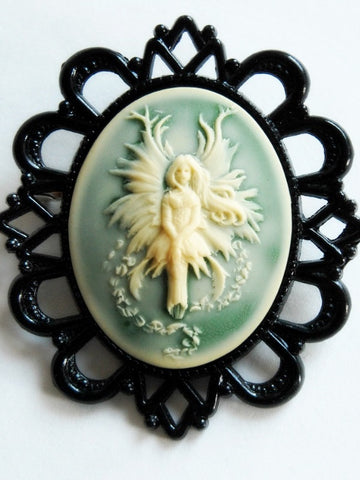 Green Fairy Brooch