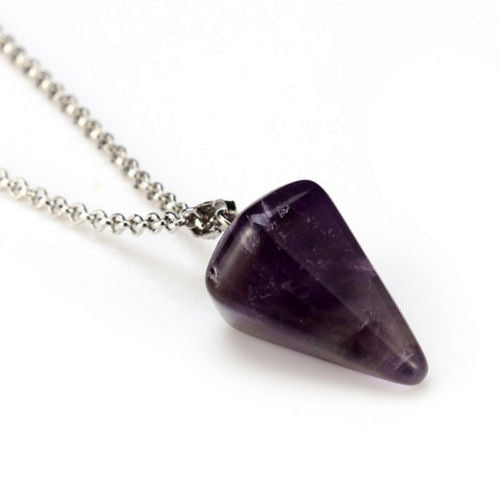 Gemstone Pendulum Necklace