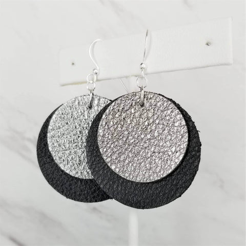 Leather Earrings | Double Circle | Skip