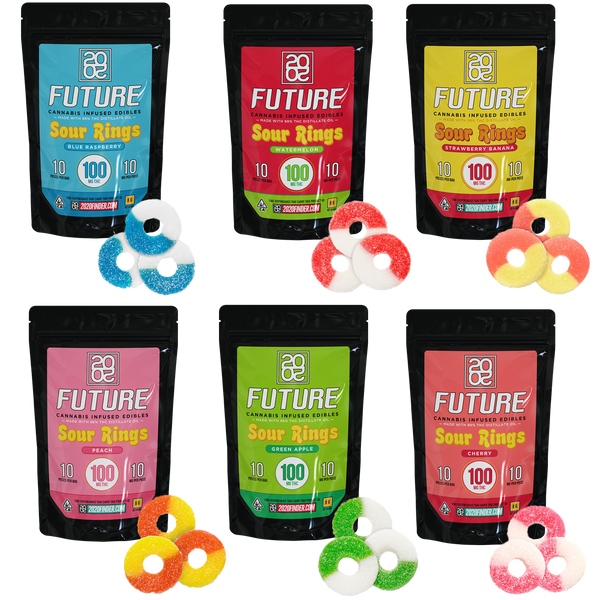 SOUR RINGS - 1 000MG