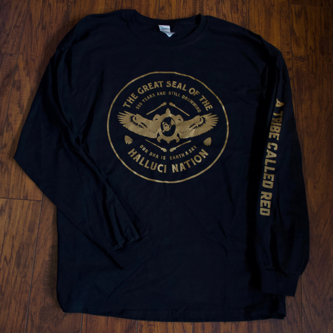 We Are The Halluci Nation Gold Longsleeve Shirt