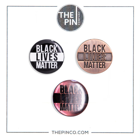 """Black Lives Matter"" (Circle) Pin Set"