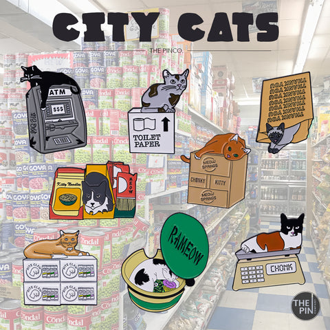 CITY CATS PIN SET