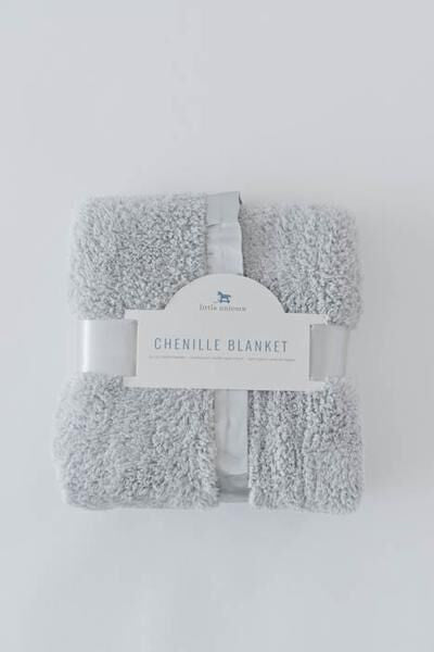 Little Unicorn Chenille Luxury Receiving Blanket - Grey