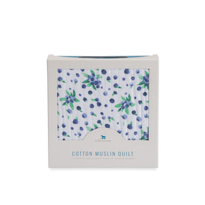 Little Unicorn Cotton Muslin Quilt - Blueberry