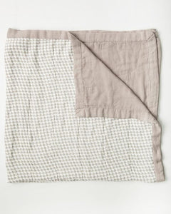 Little Unicorn Deluxe Muslin Quilt - Houndstooth Grey