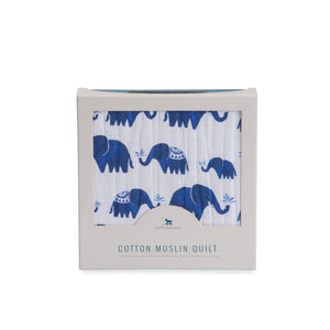 Little Unicorn Cotton Muslin Quilt - Indie Elephant