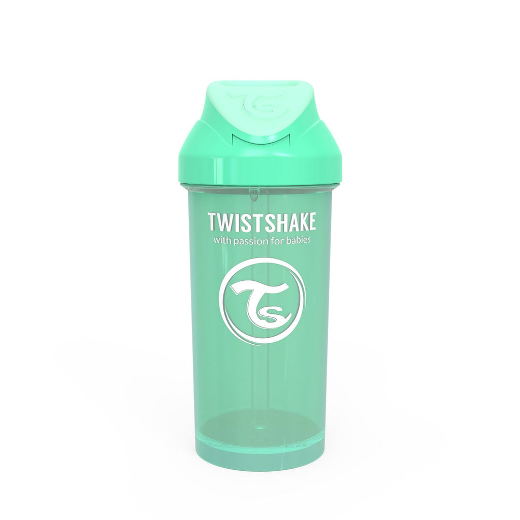 Twistshake Straw Cup Trinkflasche 360ml 12+m - Pastel Green