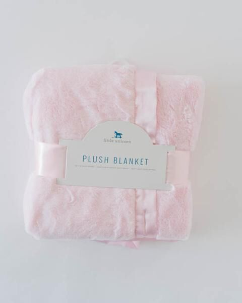 Little Unicorn Plush Luxury Receiving Blanket - Pink