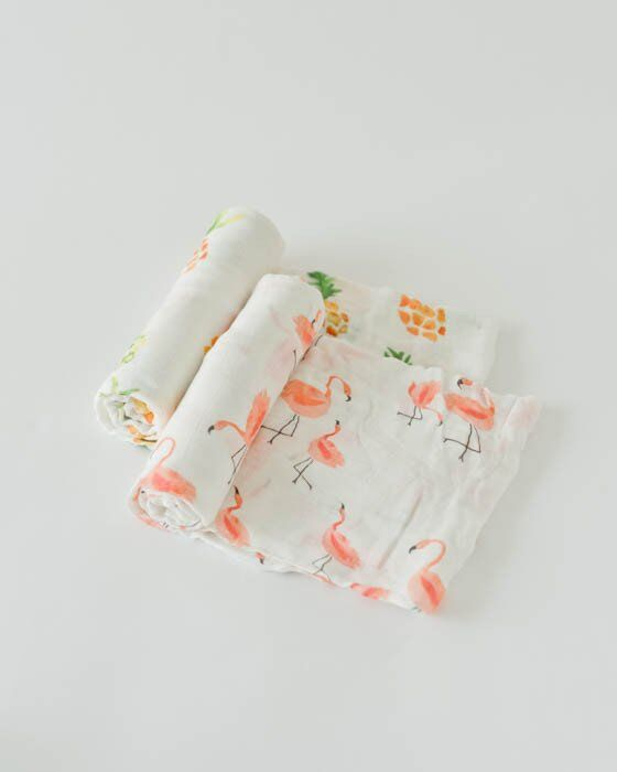 Little Unicorn Deluxe Muslin Swaddle 2er Set - Pink Ladies