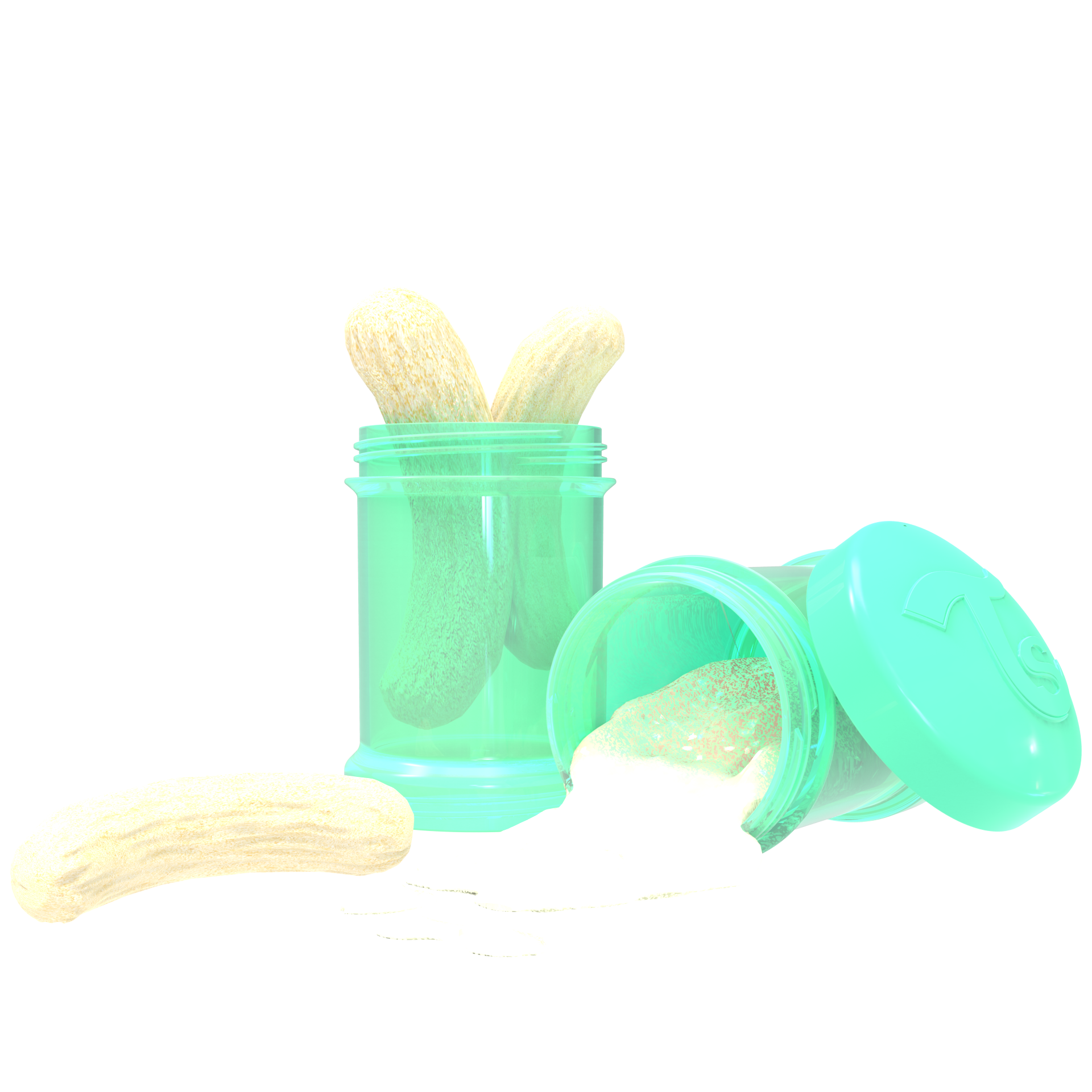 Twistshake Vorratsbehälter 100ml 2er Set - Pastel Green