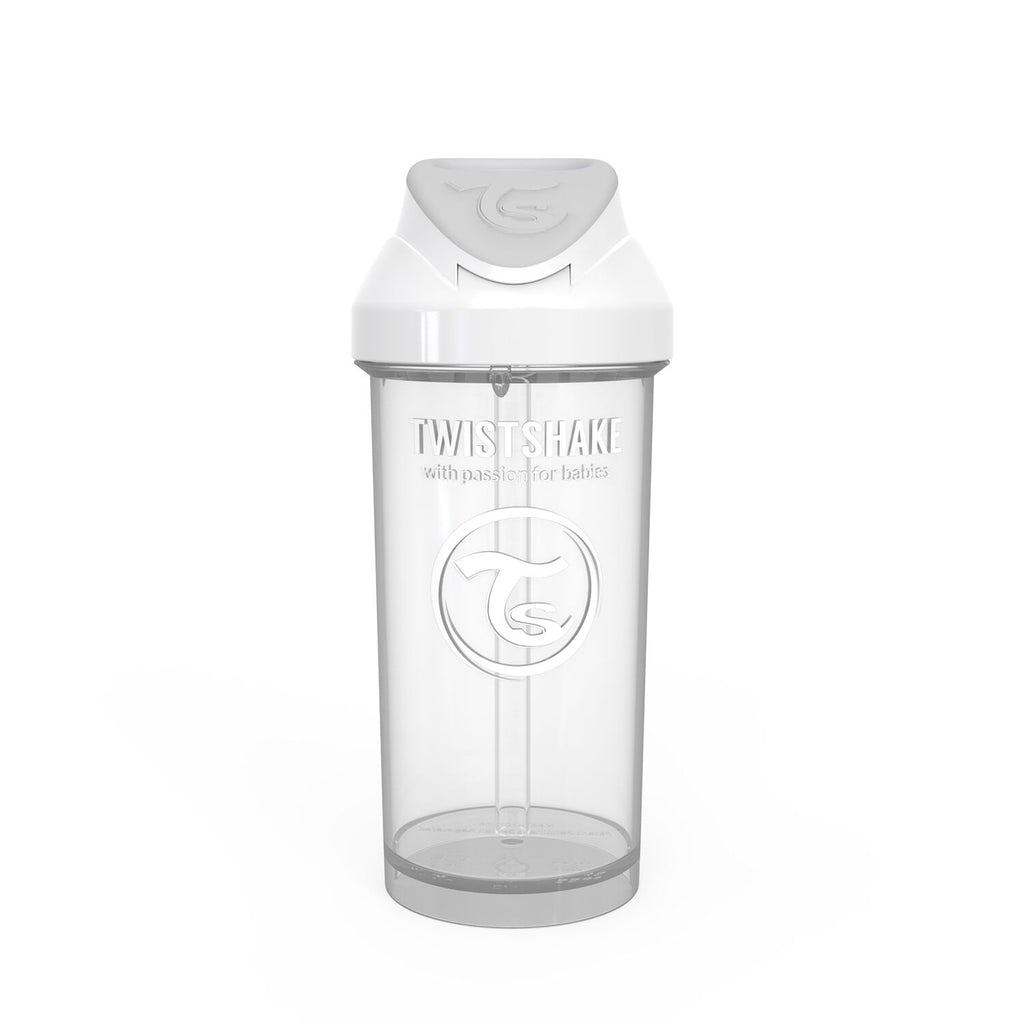 Twistshake Straw Cup Trinkflasche 360ml 12+m - White
