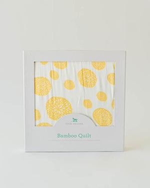 Little Unicorn Deluxe Muslin Quilt - Yellow Burst