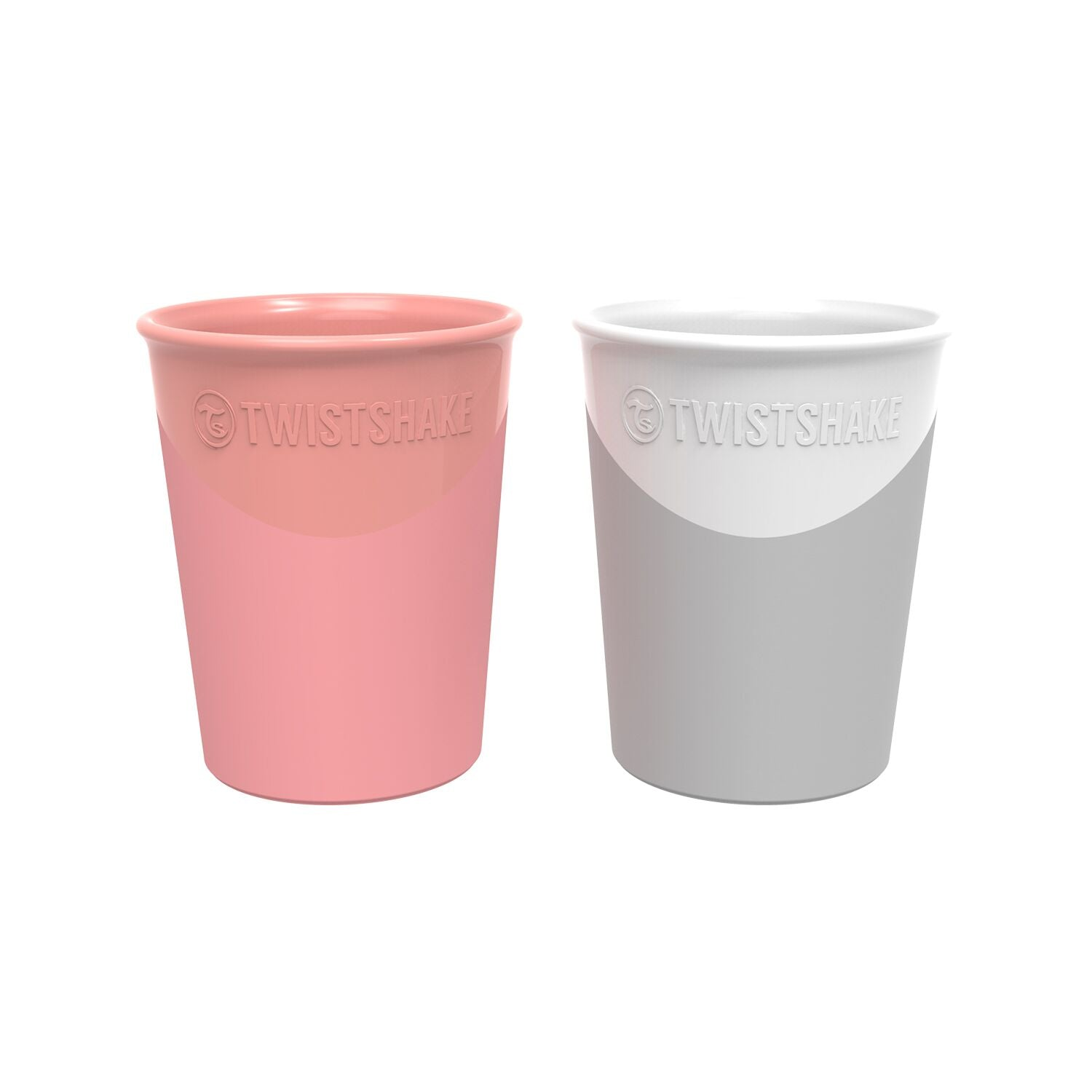 Twistshake Becher 2er Set - Pastel Peach/White