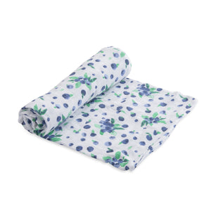 Little Unicorn Cotton Muslin Swaddle - Blueberry