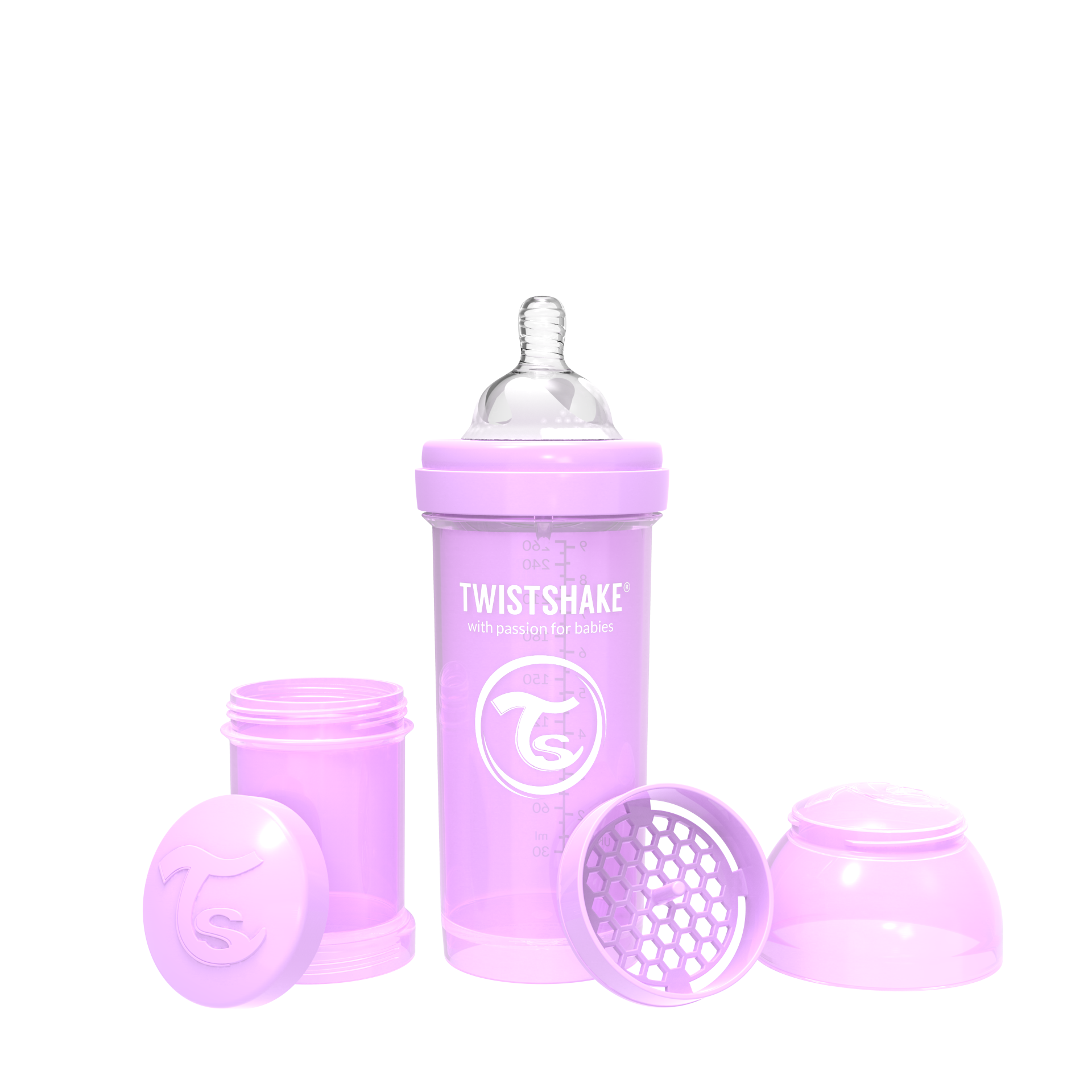 Twistshake Anti Colic 260ml - Pastel Purple