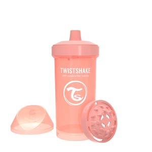 Twistshake Kid Cup Trinkflasche 360ml 12+m - Pastel Peach