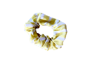 YELLOW STRIPE SCRUNCHIE
