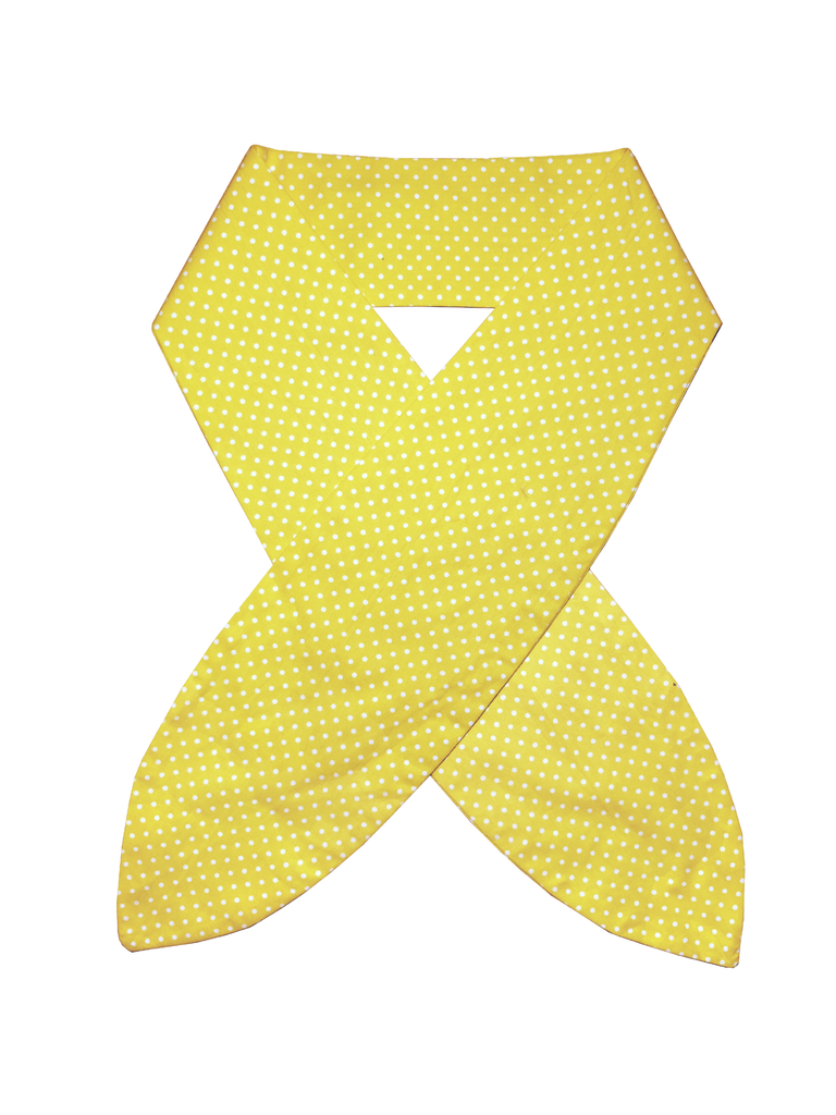 YELLOW POLKA DOT HEADSCARF