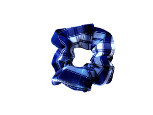 BLUE / GREEN / WHITE SCRUNCHIE