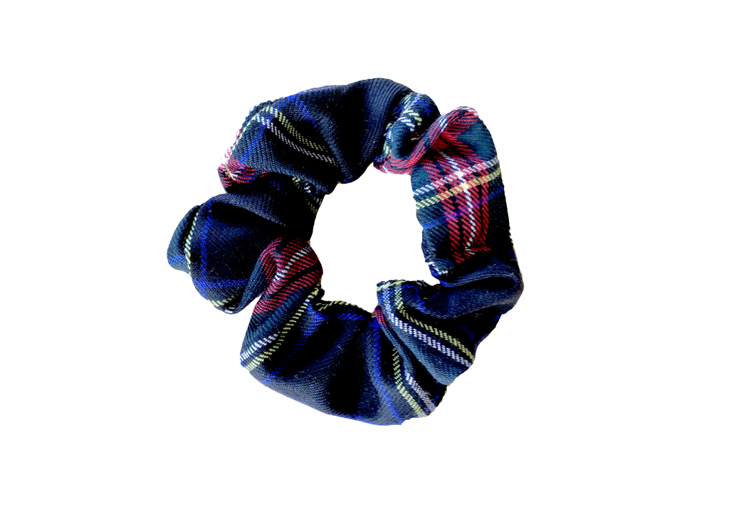 RED / GREEN / YELLOW / WHITE TARTAN SCRUNCHIE