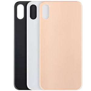 Back Cover Glass Compatible For iPhone XS(big hole, no logo)