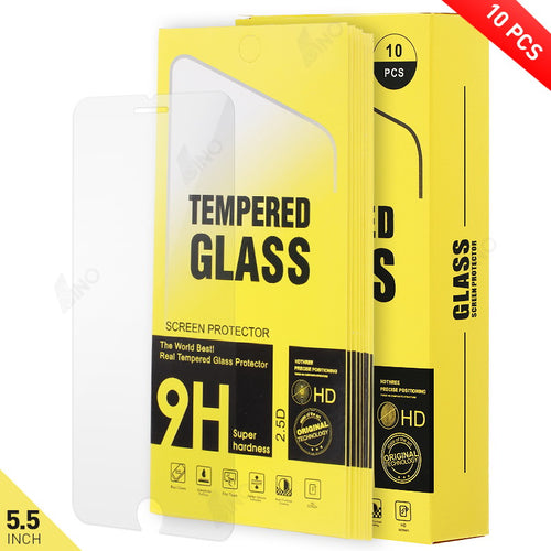 Tempered Glass Compatible For iPhone 6 Plus/iPhone 6s Plus/iPhone 7 Plus/iPhone 8 Plus