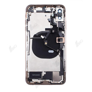 Back Housing with Small Components Compatible For iPhone XS Max (no logo)