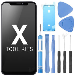 LCD Assembly Compatible For iPhone X with Repair Tool Kits