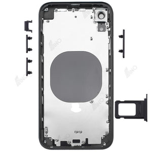 Rear Case with Side Button and SIM Card Tray Compatible For iPhone XR (no logo)