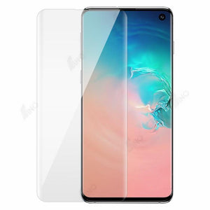 Tempered Glass Compatible For Samsung S10 (UV, 3D Curved, Full Screen)