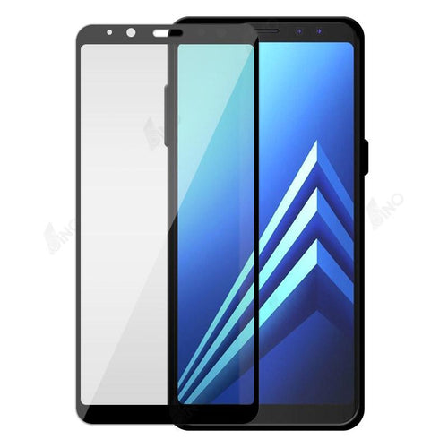 Tempered Glass Compatible For Samsung A8 2018 (Silk-Print, Full Screen)