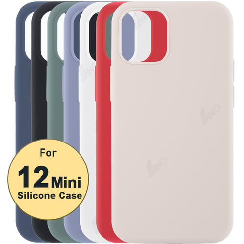 Silicone Protective Phone Case Compatible For iPhone 12 mini