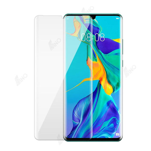 Tempered Glass Compatible For HUAWEI P30 Pro (3D Curved, Full Screen, UV)