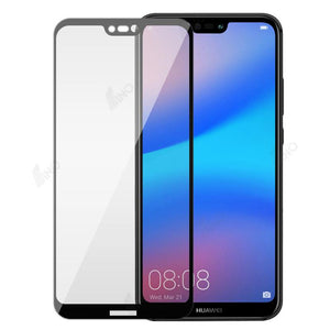 Tempered Glass Compatible For HUAWEI P20 Lite (Silk-Print, Full Screen)