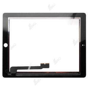 Touch Screen with Home Button Assembly/Sticker Compatible For iPad 4, (Premium)