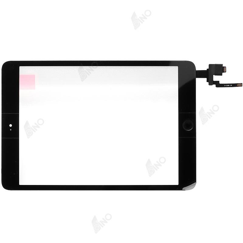 Touch Screen with IC connector and home button assembly  Compatible For iPad mini 3,Black,Refurbished(original material£©